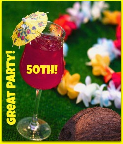 unique 50th birthday party idea