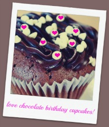 love chocolate birthday cake