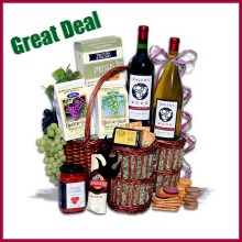 super discount wine gift basket