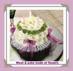 pretty flower birthday cakes