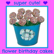 cute flower birthday cakes