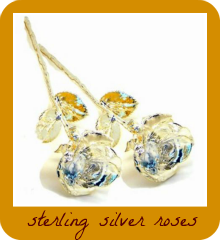 lovely sterling silver roses