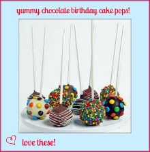 chocolate birthday cake pops