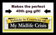 funny 40th birthday ideas bumper stickers